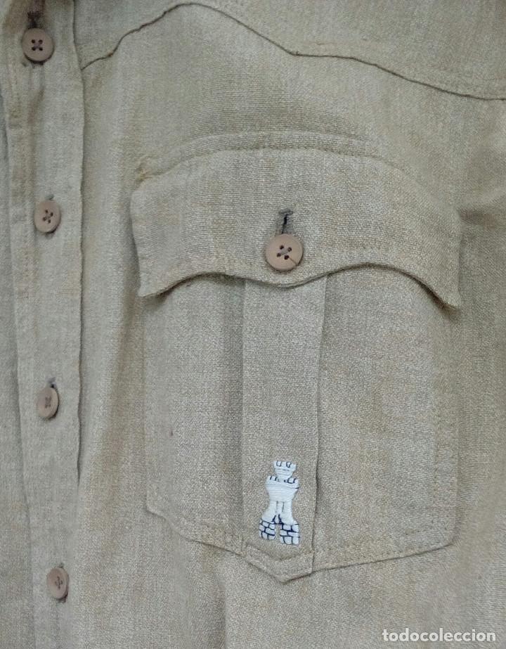Militaria: Camisa Sáhara Ingenieros, militar española color arena,botones madera,bordado ingenieros,MUY RARA - Foto 3 - 160573558