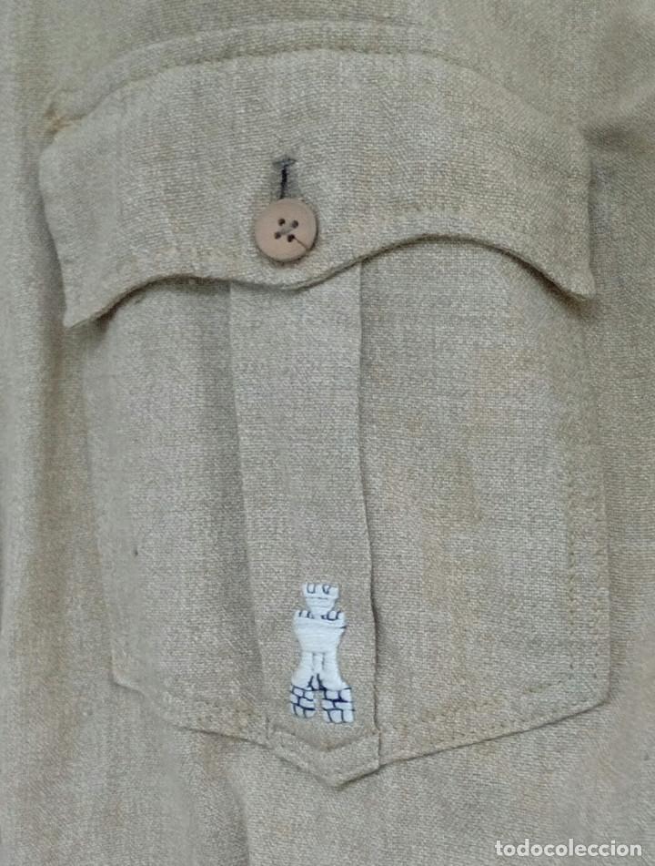 Militaria: Camisa Sáhara Ingenieros, militar española color arena,botones madera,bordado ingenieros,MUY RARA - Foto 7 - 160573558