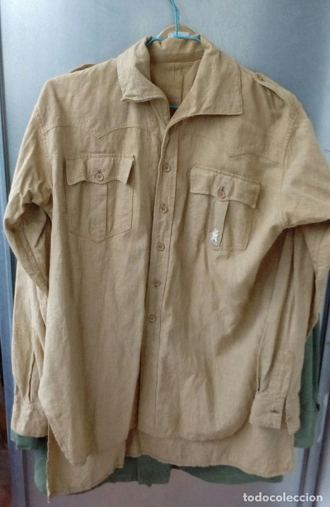 Militaria: Camisa Sáhara Ingenieros, militar española color arena,botones madera,bordado ingenieros,MUY RARA - Foto 8 - 160573558