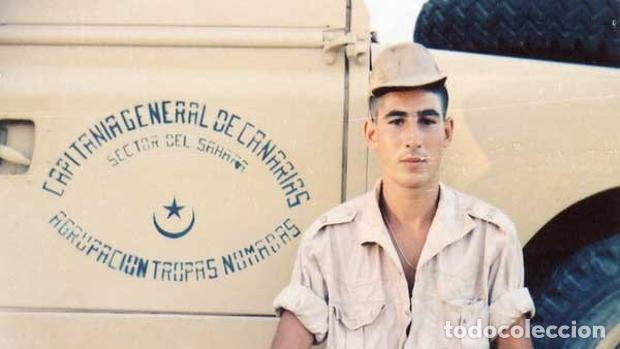 Militaria: Camisa Sáhara Ingenieros, militar española color arena,botones madera,bordado ingenieros,MUY RARA - Foto 9 - 160573558