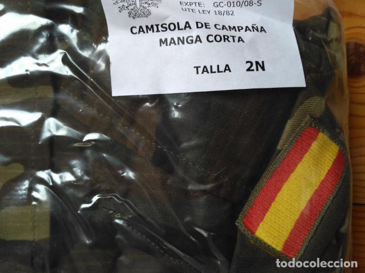 Militaria: CAMISOLA MILITAR CAMUFLAJE EJERCITO ESPAÑOL TALLA 2N NUEVA A ESTRENAR - Foto 3 - 160827802