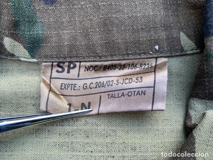 Militaria: Camisa Uniforme Ejercito Tierra Español Camuflaje - Foto 3 - 35303659