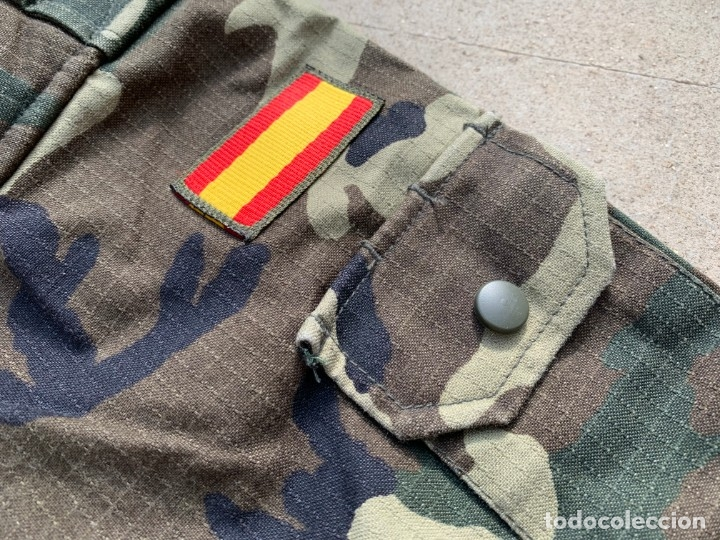 Militaria: Camisa Uniforme Ejercito Tierra Español Camuflaje - Foto 2 - 35303659