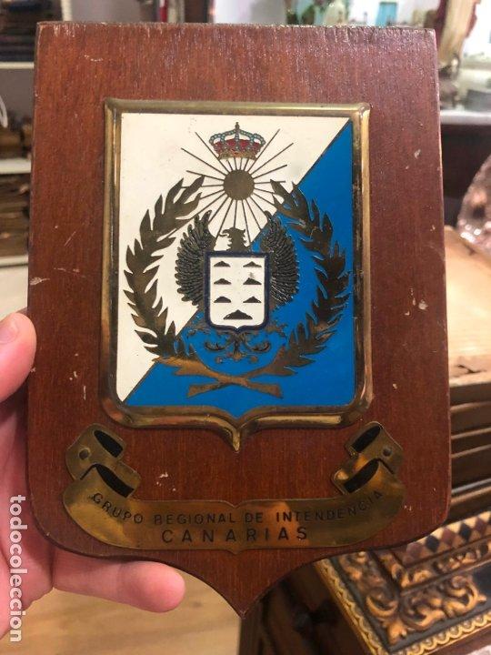 METOPA MILITAR GRUPO REGIONAL DE INTENDENCIA CANARIAS - MEDIDA 20X14 CM (Militar - Uniformes Españoles )