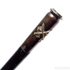 Militaria: BARA DE MANDO. BASTÓN. DE GENERAL DE BRIGADA. PLATA CON DISTINTIVO DE GENERAL EN ORO.. Lote 175925754
