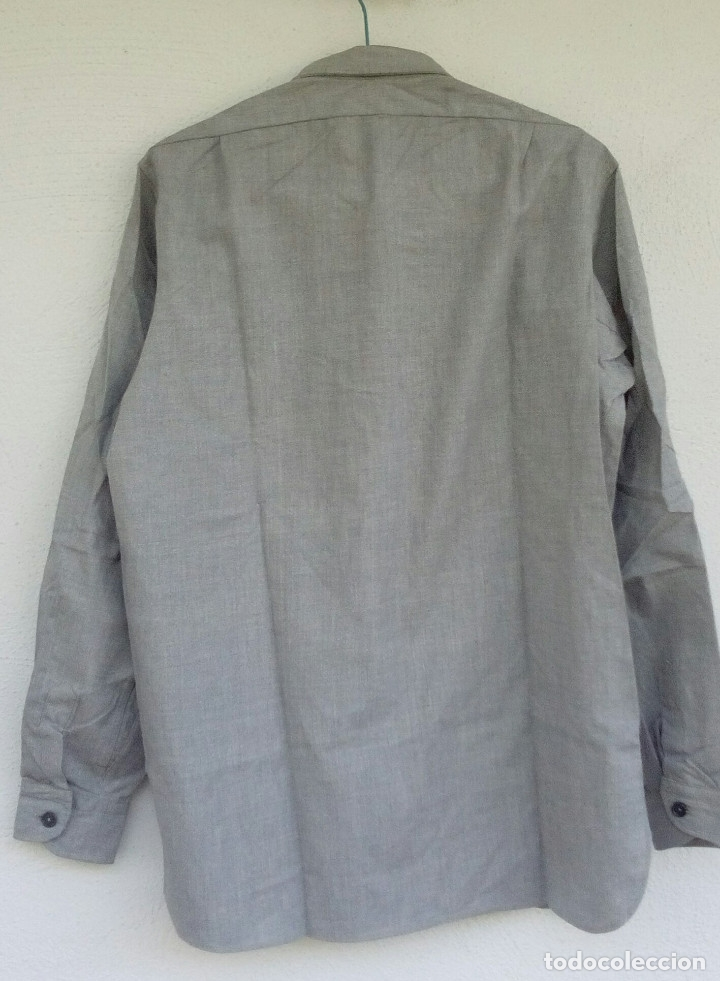 Militaria: Camisa gris granito de faena, aviación reglamento de 1946 talla 41. - Foto 2 - 175928124