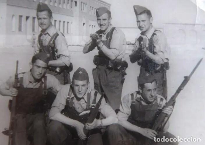 Militaria: Camisa gris granito de faena, aviación reglamento de 1946 talla 41. - Foto 6 - 175928124