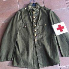 Militaria: UNIFORME, GUERRERA SANIDAD MILITAR, TROPA, ÉPOCA ALFONSO XIII.. Lote 115389627