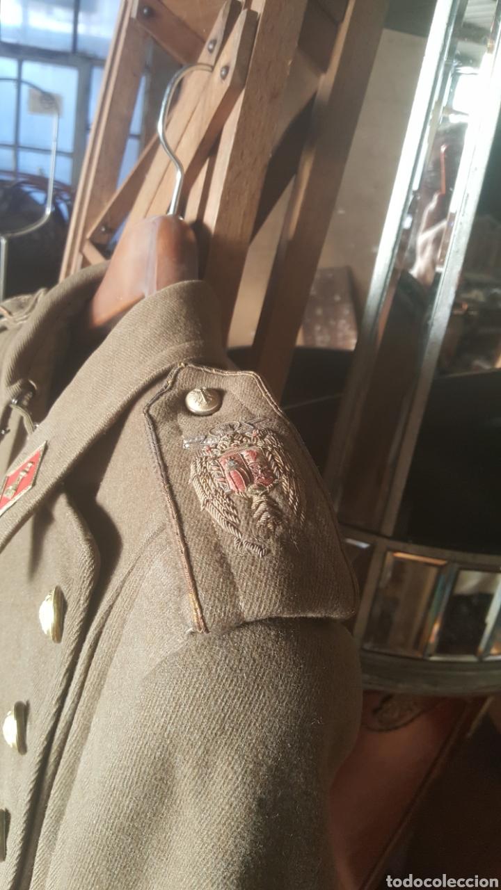 Militaria: abrigo militar de alférez de Ingenieros época franquista - Foto 6 - 178905121