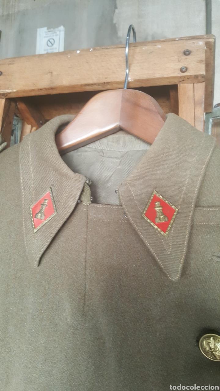 Militaria: abrigo militar de alférez de Ingenieros época franquista - Foto 4 - 178905121