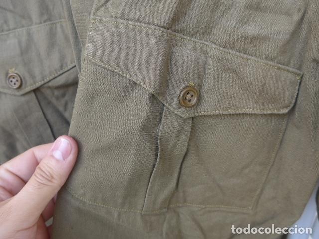 Militaria: * Antigua camisa militar republicana de guerra civil. Original. ZX - Foto 7 - 180018016