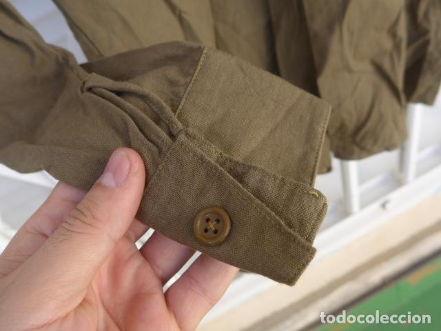 Militaria: * Antigua camisa militar republicana de guerra civil. Original. ZX - Foto 11 - 180018016