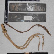Militaria: LOTE ARMADA ESPAÑOLA. MARINA. ALFONSO XIII, II REPÚBLICA. JORDANA. CORDÓN AYUDANTE, CINTURÓN.. Lote 182748616