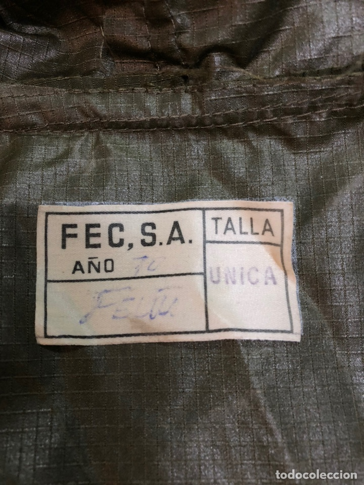 Militaria: CAPA IMPERMEABLE. EJERCITO DE TIERRA. Año 70. Rara - Foto 9 - 183057717