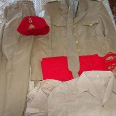 Militaria: UNIFORME MILITAR. REGULARES 52 MELILLA. TARBUCH FAJÍN CORBATA CAMISAS GUERRERA PANTALÓN. 2,3KG. Lote 187640538