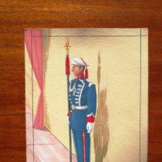 Militaria: GUARDIA DE S. E. EL GENERALÍSIMO - ORIGINAL ARTÍSTICO - 8,5 CM X 11,3 CM. Lote 188720952