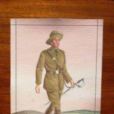 Militaria: CAZADOR DE TETUÁN , 17 DE CABALLERÍA - ORIGINAL ARTÍSTICO - 8,5 CM X 11,3 CM. Lote 188721376