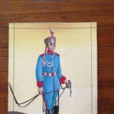 Militaria: CAZADOR DE MARÍA CRISTINA - ORIGINAL ARTÍSTICO - 8,5 CM X 11,3 CM. Lote 188722663