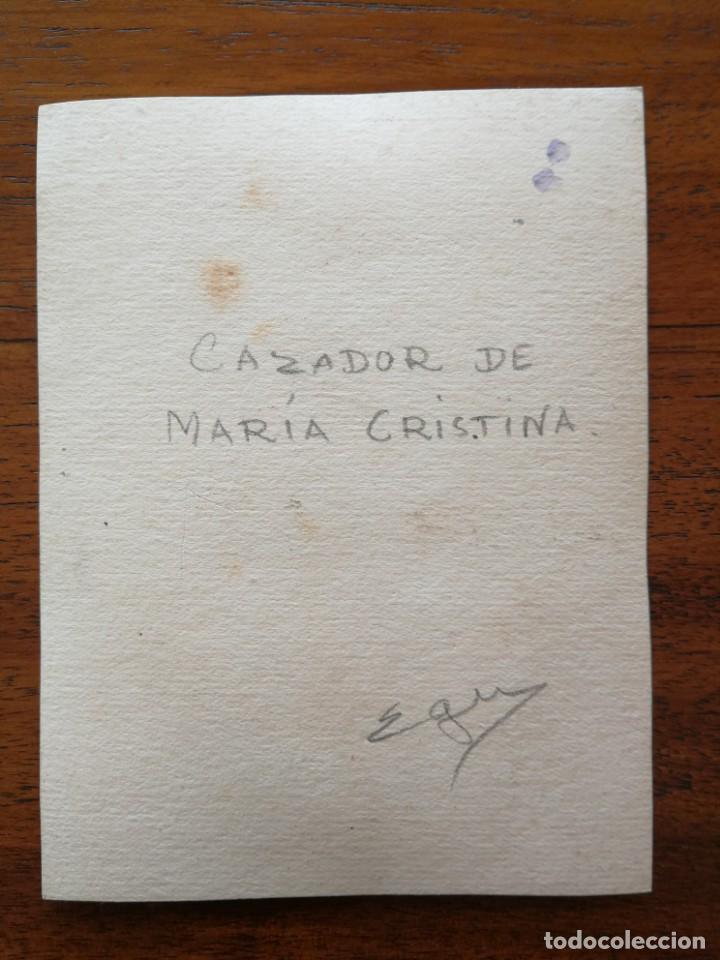 Militaria: Cazador de María Cristina - Original Artístico - 8,5 cm x 11,3 cm - Foto 2 - 188722663