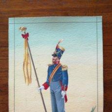 Militaria: LEONÍFERO (SEGÚN REAL DECRETO DEL 2/11/1821 ) - ORIGINAL ARTÍSTICO - 8,5 CM X 11,3 CM. Lote 188722798