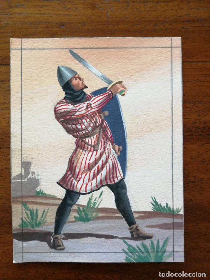 CETRATO LORICATO DE MESNADA SEÑORIAL SIGLO XIV - ORIGINAL ARTÍSTICO - 8,5 CM X 11,3 CM (Militar - Uniformes Españoles )