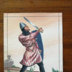 Militaria: CETRATO LORICATO DE MESNADA SEÑORIAL SIGLO XIV - ORIGINAL ARTÍSTICO - 8,5 CM X 11,3 CM. Lote 188722961