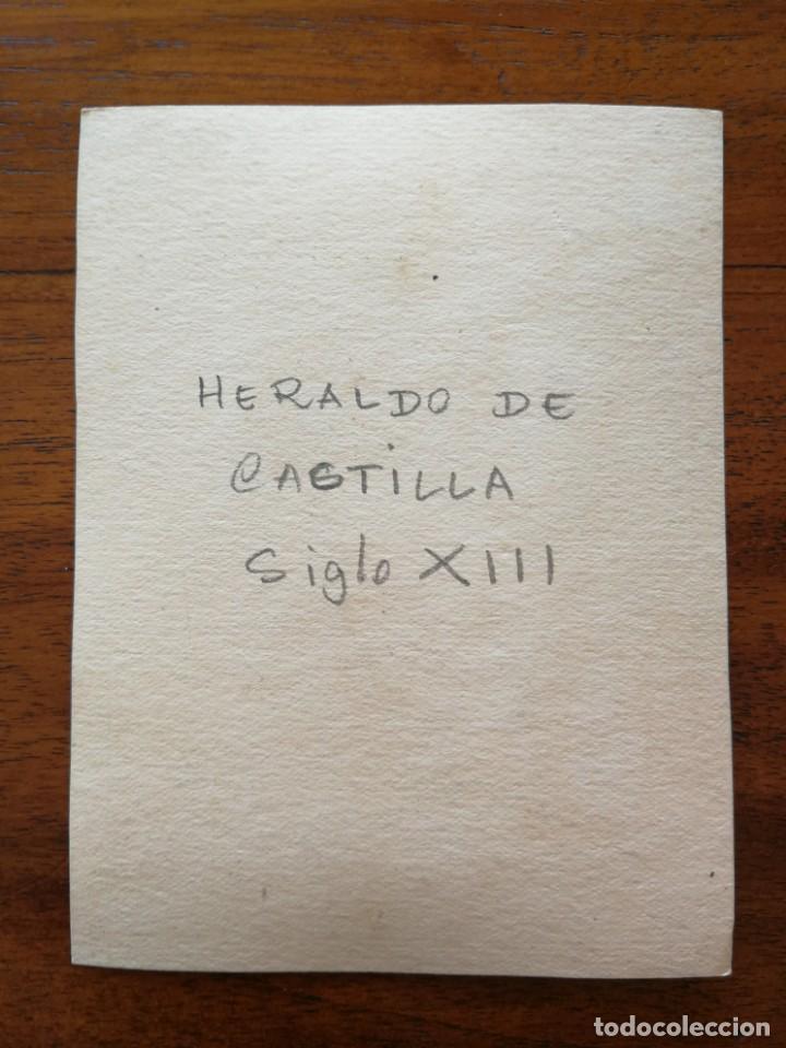 Militaria: Heraldo de Castilla Siglo XIII - Original Artístico - 8,5 cm x 11,3 cm - Foto 2 - 188723180