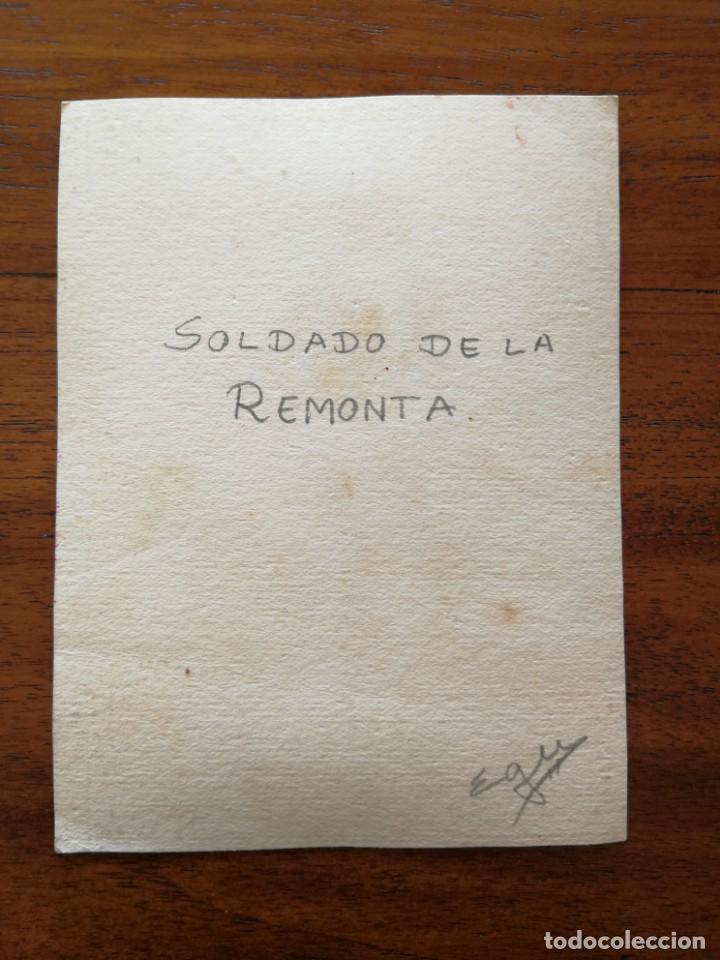Militaria: Soldado de La Remonta - Original Artístico - 8,5 cm x 11,3 cm - Foto 2 - 188723288