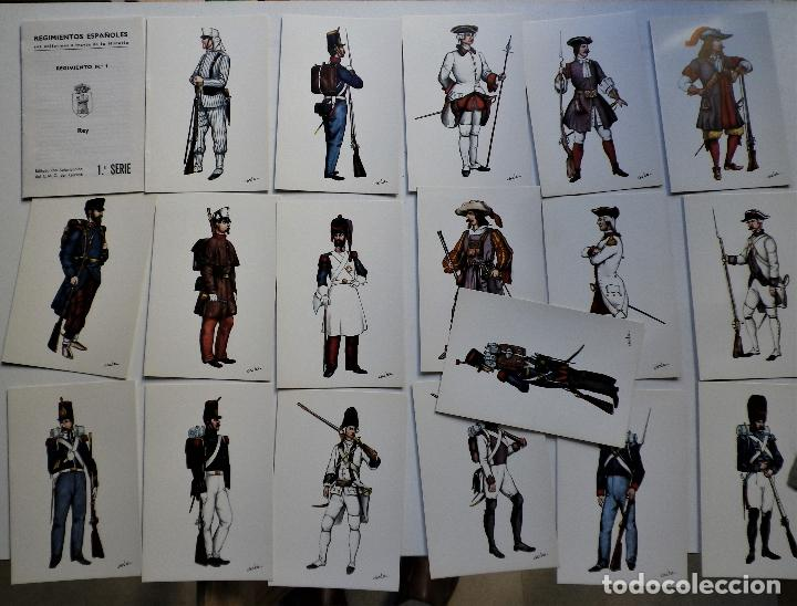 Militaria: Regimiento Del REY Nº 1 Tarjetas postales - Foto 2 - 188735151
