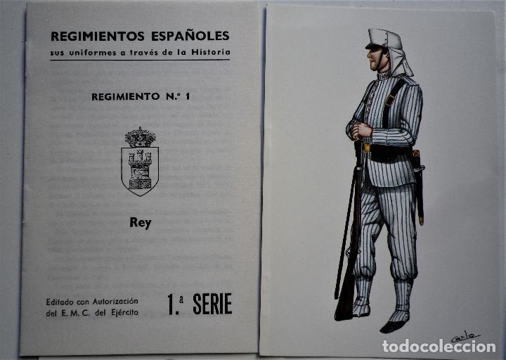 REGIMIENTO DEL REY Nº 1 TARJETAS POSTALES (Militar - Uniformes Españoles )
