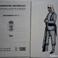 Militaria: REGIMIENTO DEL REY Nº 1 TARJETAS POSTALES. Lote 188735151