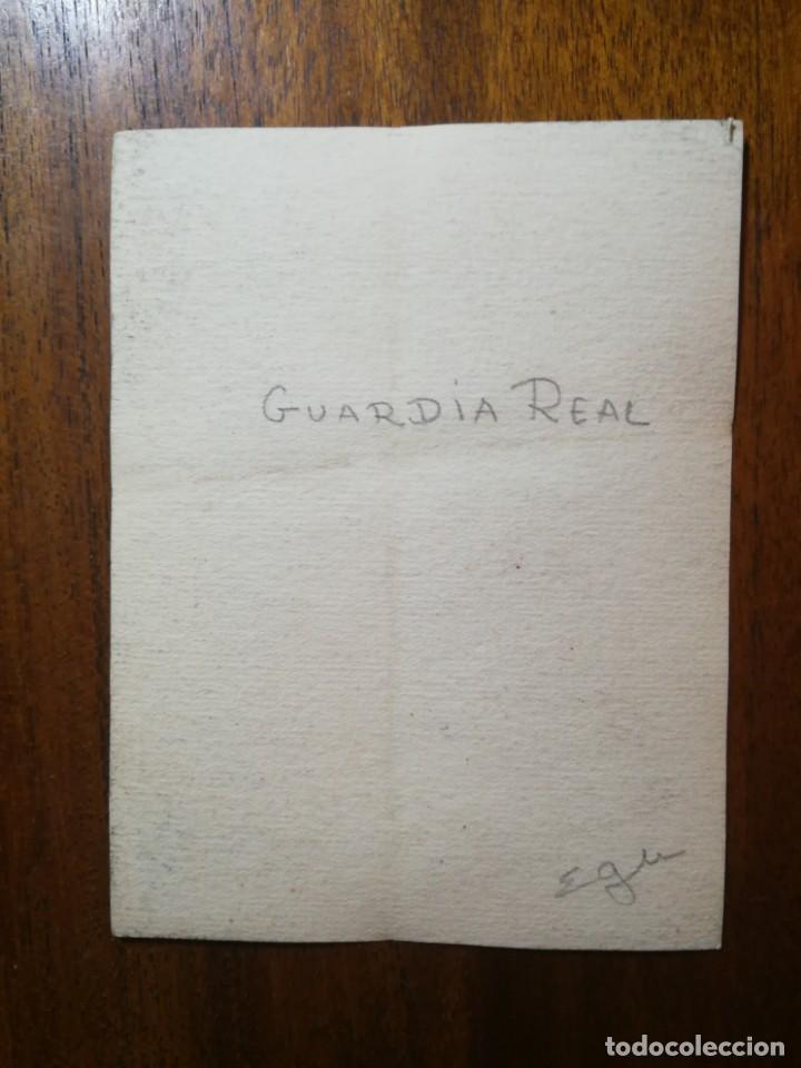 Militaria: Guardia Real - Original Artístico - 8,5 cm x 11,3 cm - Foto 2 - 189896191