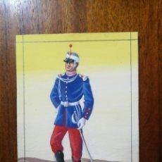 Militaria: CADETE DEL AÑO 1870 - ORIGINAL ARTÍSTICO - 8,5 CM X 11,3 CM. Lote 189896337