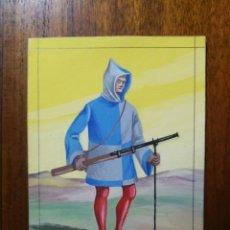 Militaria: CULEBRINERO SIGLO XV AL XVI - ORIGINAL ARTÍSTICO - 8,5 CM X 11,3 CM. Lote 189896900