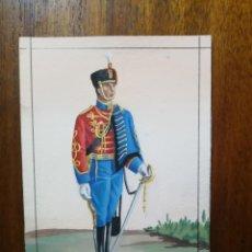 Militaria: HÚSAR DE PAVÍA - ORIGINAL ARTÍSTICO - 8,5 CM X 11,3 CM. Lote 189898597