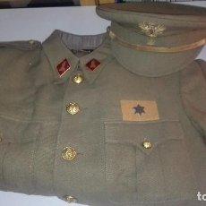 Militaria: UNIFORME COMPLETO ALFEREZ PROVISIONAL ZAPADORES FERROVIARIOS. PRIMERA EPOCA REGLAMENTO 1943.. Lote 190049497
