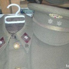 Militaria: UNIFORME COMPLETO TENIENTE SANIDAD. PRACTICANTE MILITAR. PRIMERA EPOCA REGLAMENTO 1943.. Lote 190050262