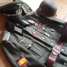 Militaria: UNIFORME DE OFICIAL DE LA DIVISION AZUL. EXCELENTE CONJUNTO PARA RECREACIÓN.. Lote 191057446