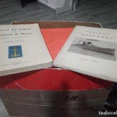 Militaria: CRUCERO BALEARES Y MANUAL AÑOS 50 I.M. Lote 193048055