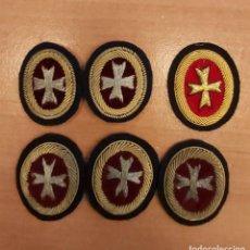 Militaria: LOTE 6 OVALOS MEDICO BORDADOS A MANO EN TORZAL Y CANUTILLO. Lote 195178093