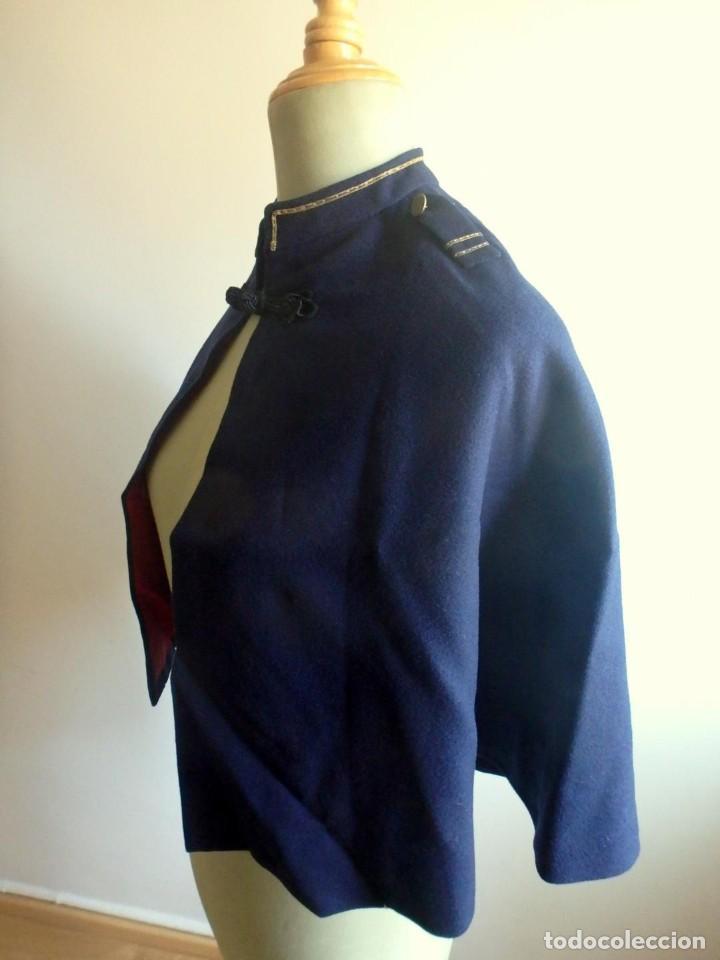 Militaria: (JX-200286)Capa para uniforme militar infantil , azul y roja , paño y raso . - Foto 2 - 195322368