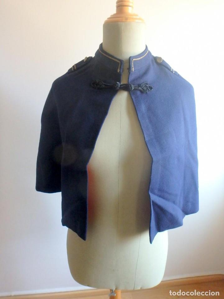 Militaria: (JX-200286)Capa para uniforme militar infantil , azul y roja , paño y raso . - Foto 8 - 195322368
