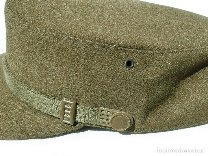 Militaria: Gorra militar con tejido tipo lana. M Valle. Talla 56. - Foto 2 - 209021407