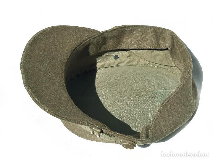 Militaria: Gorra militar con tejido tipo lana. M Valle. Talla 56. - Foto 3 - 209021407