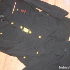 Militaria: EXCEPCIONAL UNIFORME DE JERARCA FALANGISTA. PASADOR DE CONDECORACIONES BORDADO.. Lote 210468287