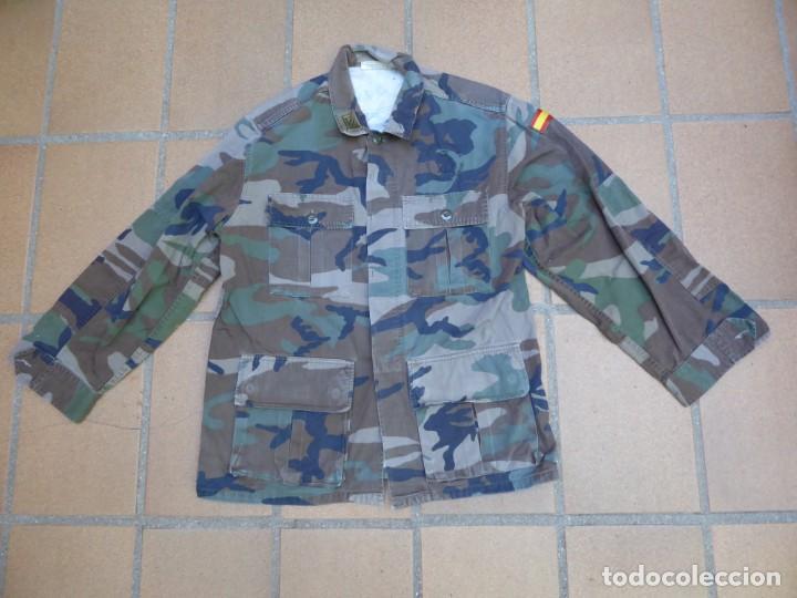 Militaria: Camisola campaña sargento primero Infantería de Marina. M-82 FN WOODLAND - Foto 2 - 211801411