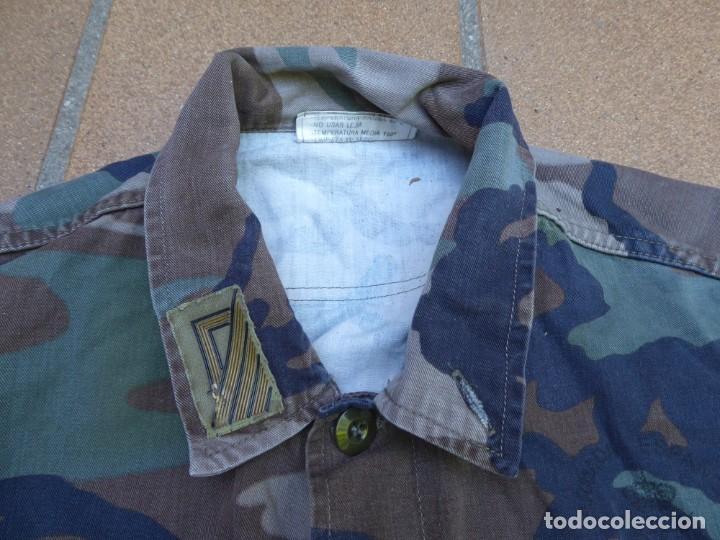 Militaria: Camisola campaña sargento primero Infantería de Marina. M-82 FN WOODLAND - Foto 3 - 211801411
