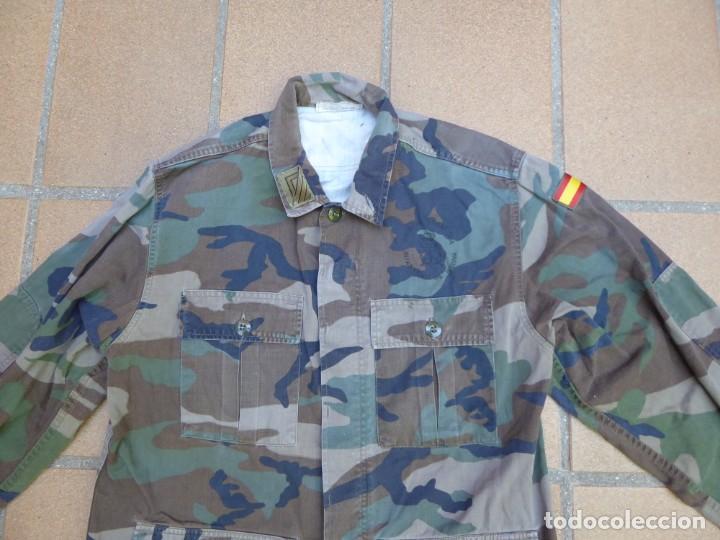 Militaria: Camisola campaña sargento primero Infantería de Marina. M-82 FN WOODLAND - Foto 4 - 211801411