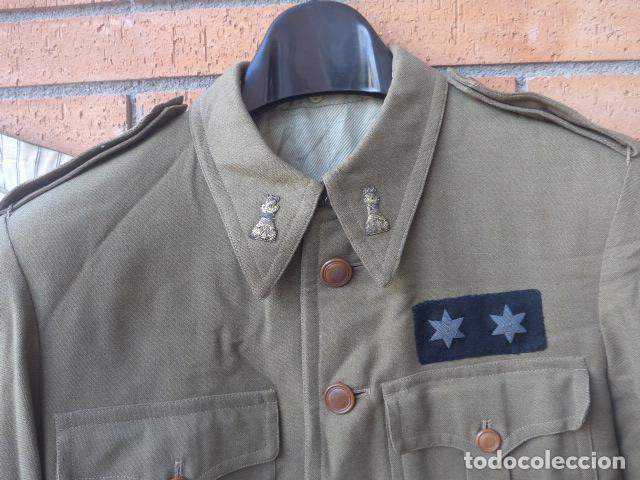 Militaria: * Antiguo uniforme de teniente provisional, con emblemas bordados ingenieros, guerra civil. ZX - Foto 2 - 211829950