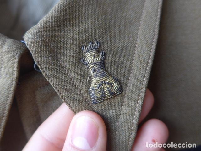 Militaria: * Antiguo uniforme de teniente provisional, con emblemas bordados ingenieros, guerra civil. ZX - Foto 5 - 211829950